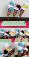 ice cream cones by hellohappycrafts