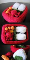 amigurumi bento box by hellohappycrafts