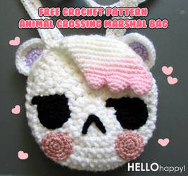 Animal Crossing Marshal bag - free crochet pattern by hellohappycrafts