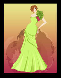 green gown by DandeiraArt