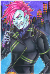neon zombae by pencil-butter
