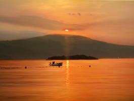 Red sunset by Olga17