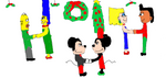 Cartoon Couples Christmas ball by Simpsonsfanatic33