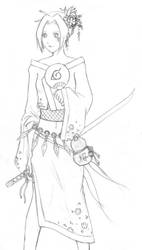 Sakura 'New Years' sketch by chuwei