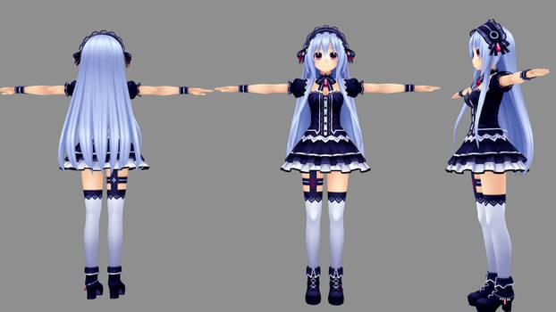 MMD Fairy Fencer F - Tiara by xxSnowCherryxx