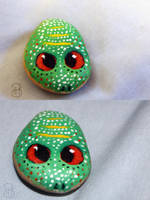[ Painted Rocks ] Frog, but not really by Dreamsverse