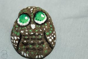 [ Painted Rocks ] Owl by Dreamsverse