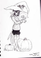 [ Inktober? ] Autumn Witch's Healing Touch by Dreamsverse