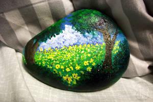 [ Painted Rocks ] Flowery Meadows by Dreamsverse