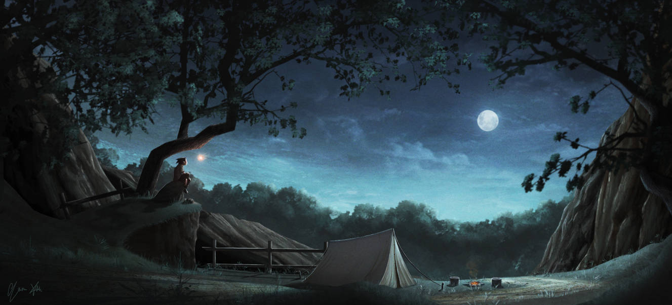 Camping with a Spirit by YoruXIII