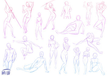 Body Sketches by mewTalina