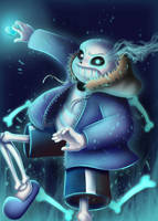 Undertale Sans by MirandaB01