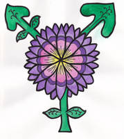 Flower Transgender Symbol by GreenwickPress