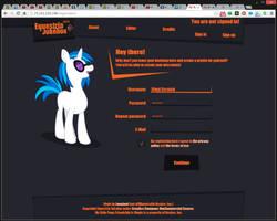 [Equestria Jukebox] #1 - Registration page by Lexuzieel