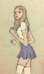 Teenage girl by LavenderStuff