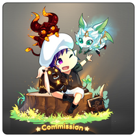 Final Fantasy XIV : Commission 02 by Lucky-chibi