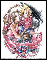 KH Cloud and Aerith by tifachan