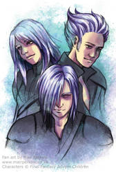 Kadaj, Loz and Yazoo by tifachan