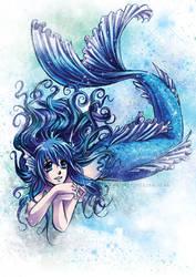 Aya Con Mermaid Fan Art by tifachan