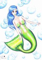 Bubble mermaid by Liesjebythesea