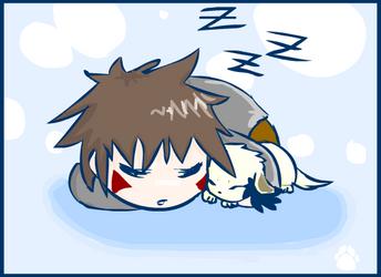 Sleepy Time Kiba by AkaOokami