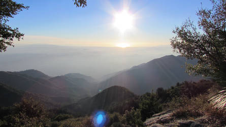 LA Basin from the San Gabriel Mtns by iconocrash