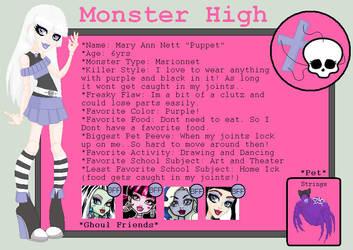 Monster High OC by kasumiharu