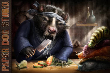 Skunk Chef by PaperDogStudio