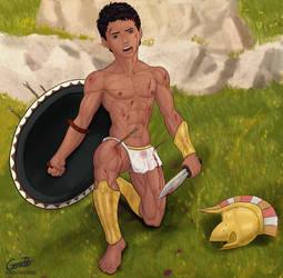 Greek Warrior. by GonZZoArt