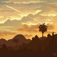 California sunrise by Caffinated-Pinecone