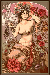 Femme des Fleurs by afergusonart