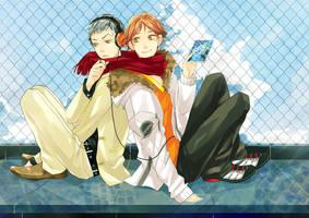 persona3 and 4 : AkihikoYosuke by MissIfa