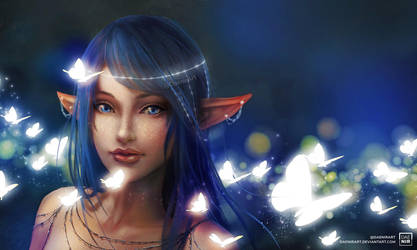 Butterfly Elf by DaenirArt