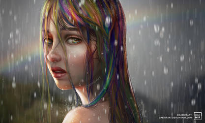Rainbow girl by DaenirArt