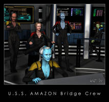 U.S.S. Amazon Bridge Crew by Kaernen