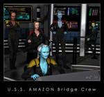 U.S.S. Amazon Bridge Crew by Kaernen