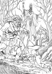Rayvan against the Lich Lord by cosimoferri