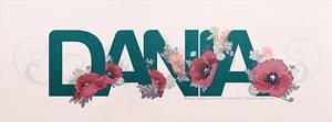 Dania Typography by dendoona