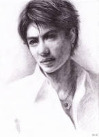 Gackt portrait - white shirt by hellbull