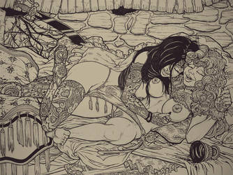 The Goddesses Cuddle by EZG