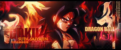 Sign' Goku ssj4 by I-Mega-I
