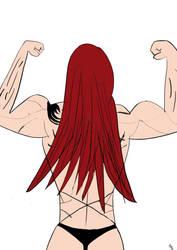 Female Anime Buff Up 1: Erza Scarlet by Mr-JL31