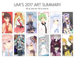 thoughts + 2017 art summary by umi-mi