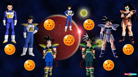 Famille Goku Super Guerrier De L'espace Signa by redsdevils