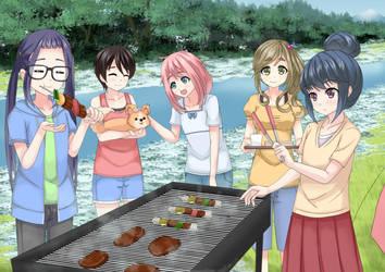Yuru Camp - outdoor grills by Pocolla