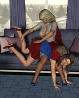Power Mom vs Super Girl 3 by MickLee99