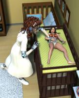 Wonder Woman's Nursery Trap by MickLee99