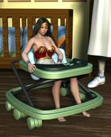 Wonder Woman's Nursery Trap 2 by MickLee99