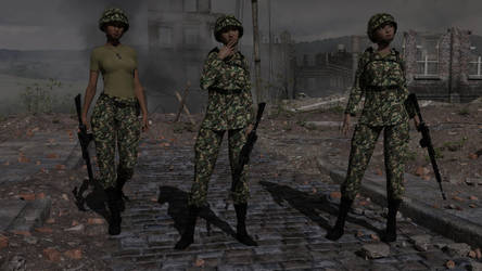 Army Girls by MickLee99