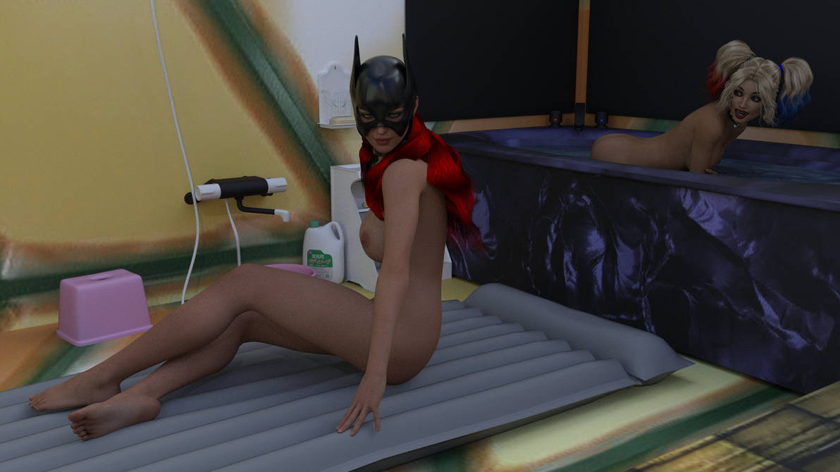 Batgirl at the Bath House by MickLee99